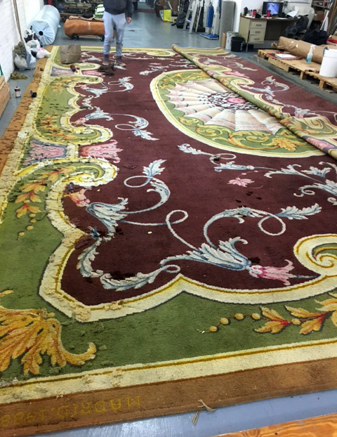 Sutton Carpet LTD Hand Repair Restoration for Julian Schnabel
