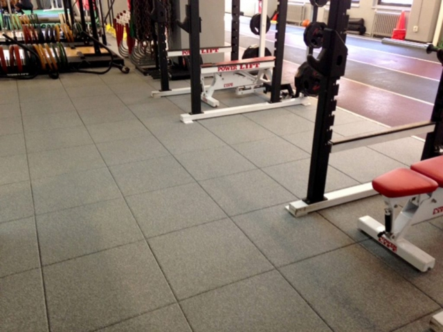 Sutton Carpet NYC gym flooring installation for Velocity Sports Performance