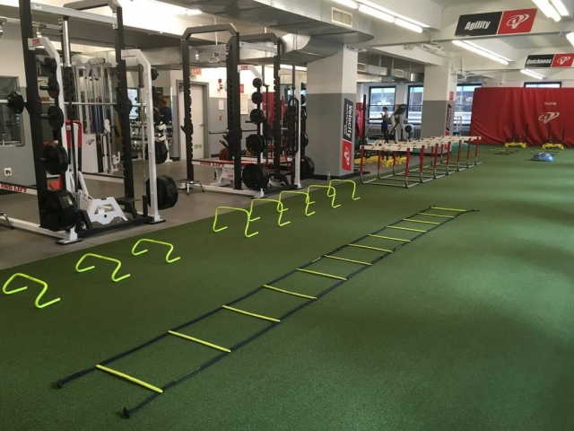 Sutton Carpet NYC gym turf flooring Installation for Velocity Sports Performance